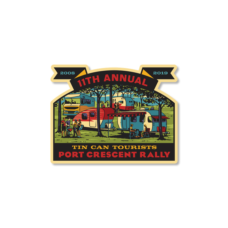 Tin Can Tourists 2019 Port Crescent Rally Sticker