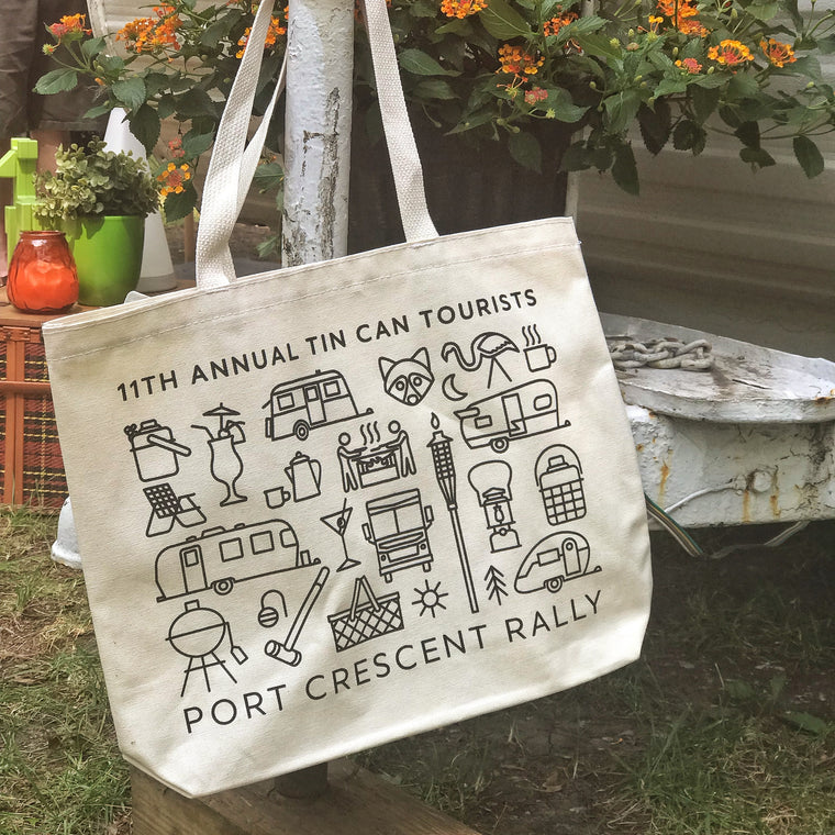 Tin Can Tourists 2019 Port Crescent Rally Totebag