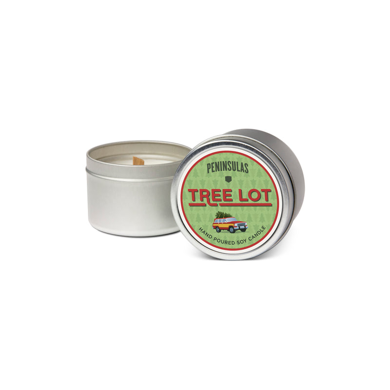 Tree Lot Candle Tin