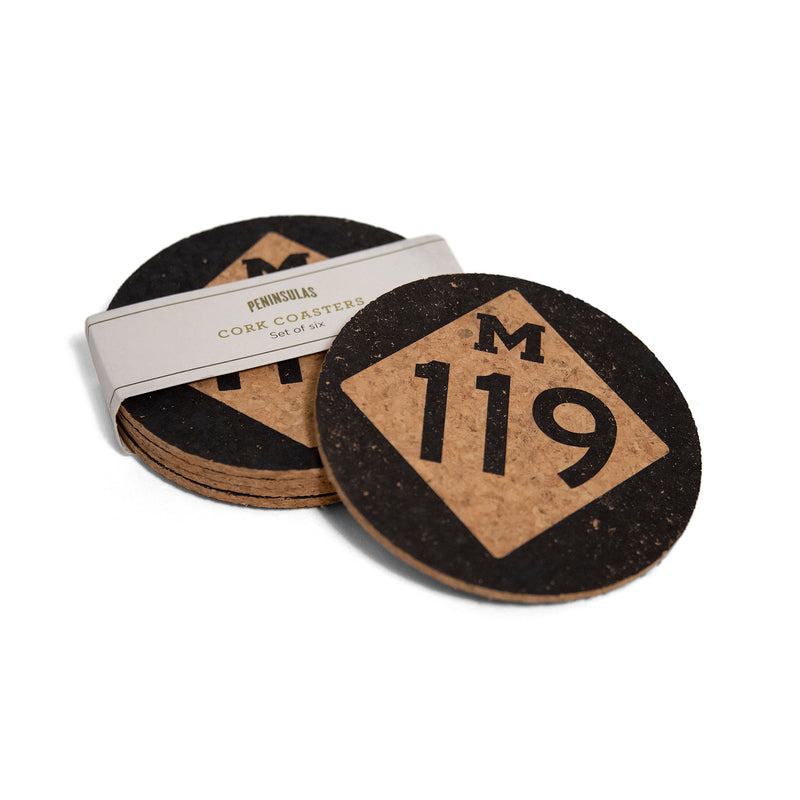 Tunnel of Trees M-119 Cork Coasters - Set of 6