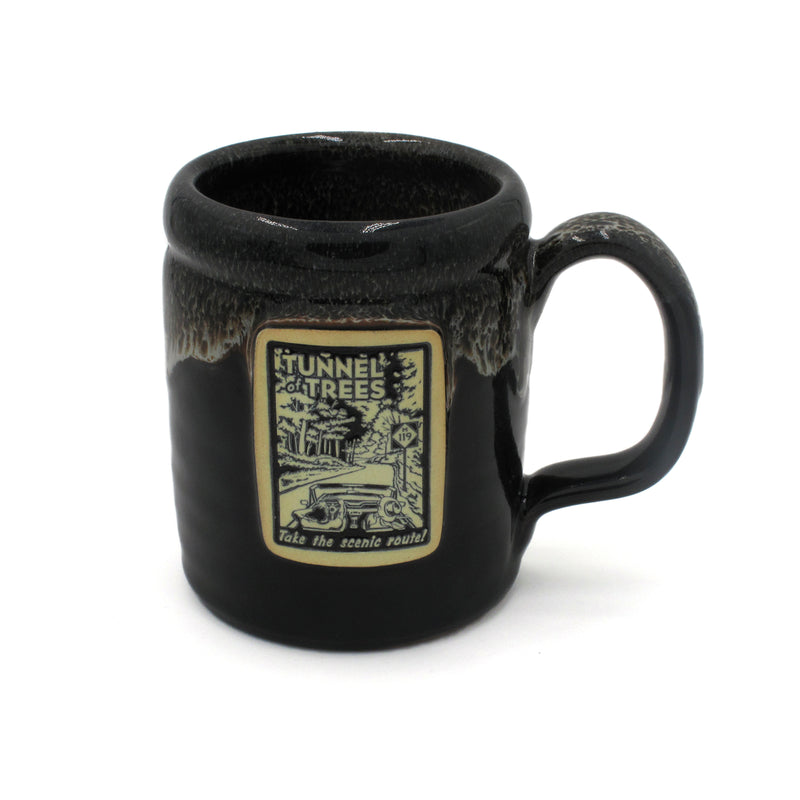 Tunnel of Trees M-119 Camper Stoneware Mug - Black
