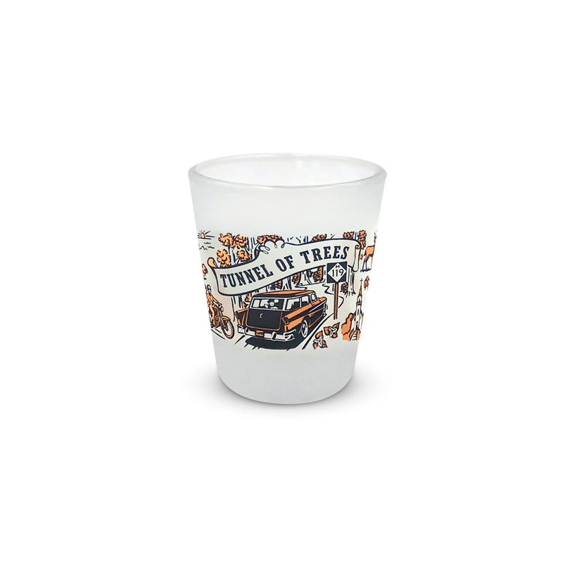 Tunnel of Trees M-119 Frosted Shot Glass