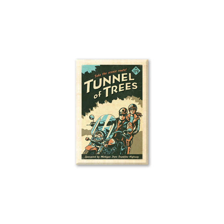 Tunnel of Trees M-119 Scenic Route Magnet