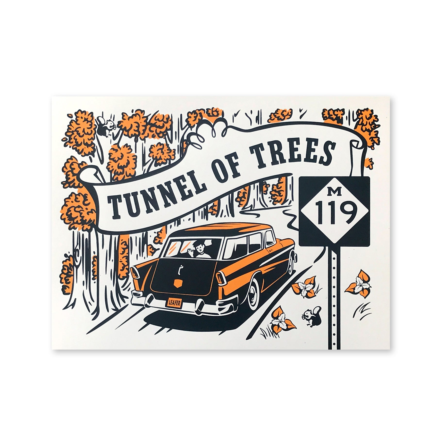 Tunnel of Trees M-119 Print