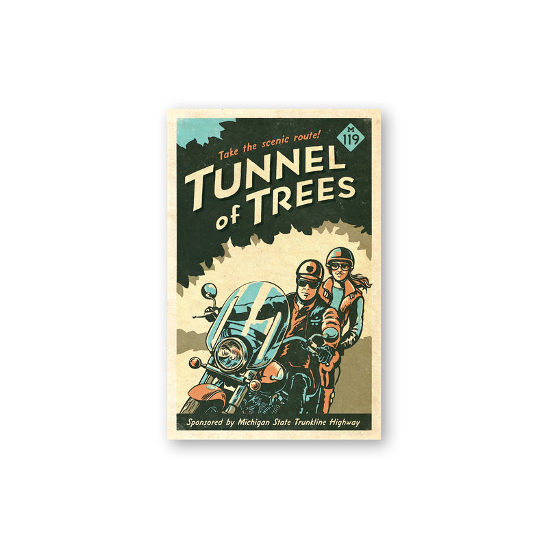 Tunnel of Trees M-119 Scenic Route Sticker