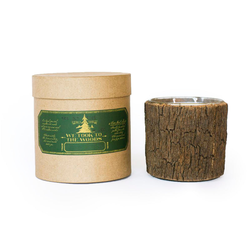 Large Bark Candle