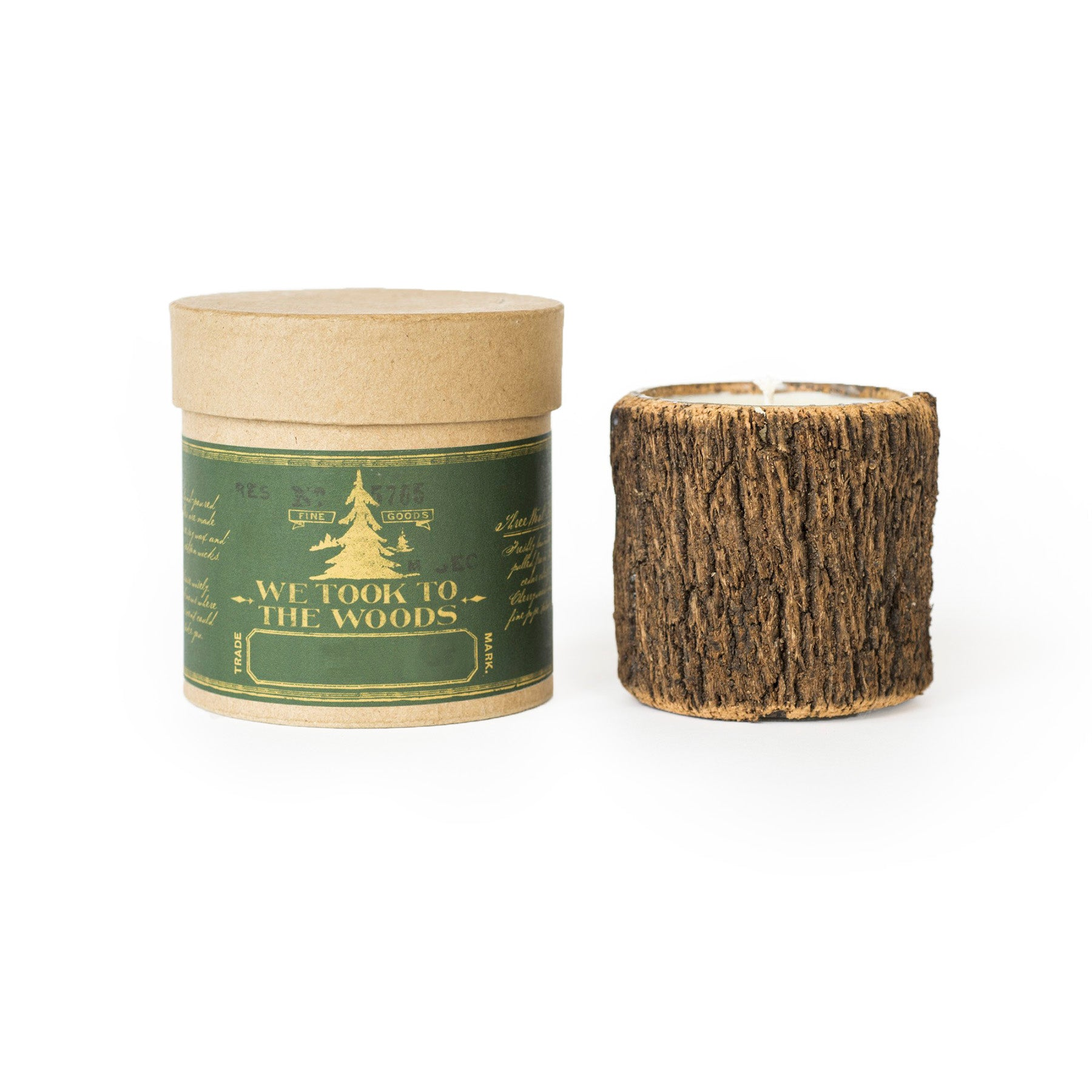 Small Bark Candle