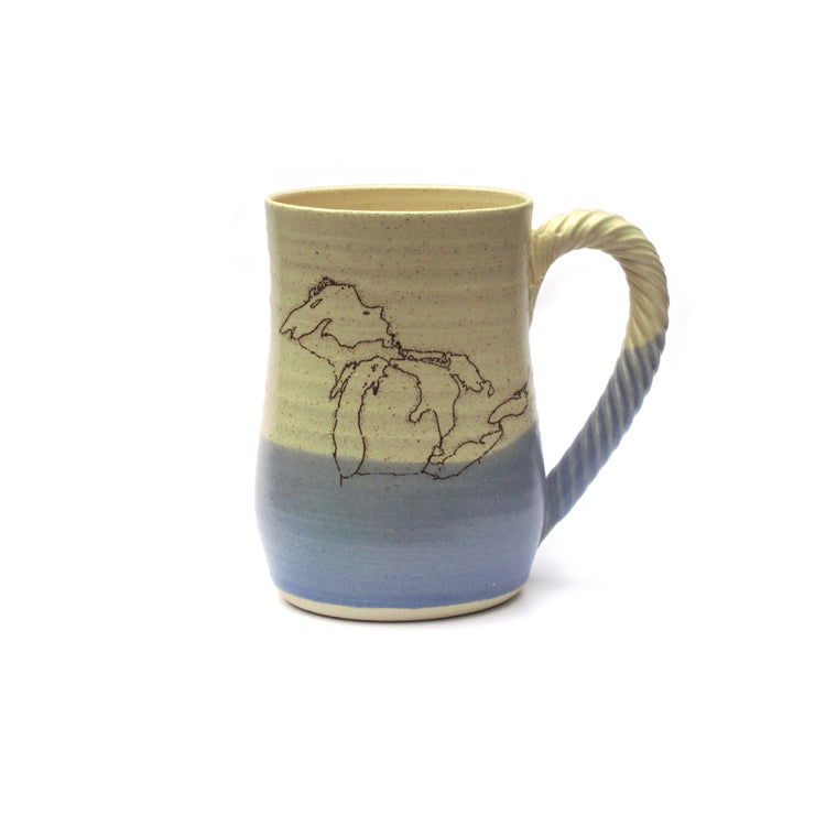 Stoneware Michigan Map Mug