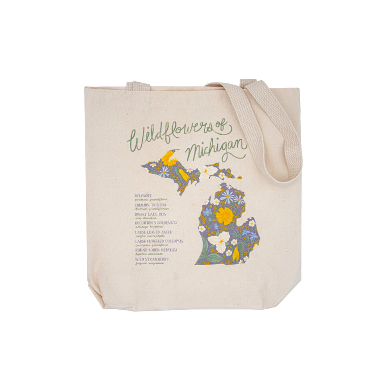 Wildflowers of Michigan Tote