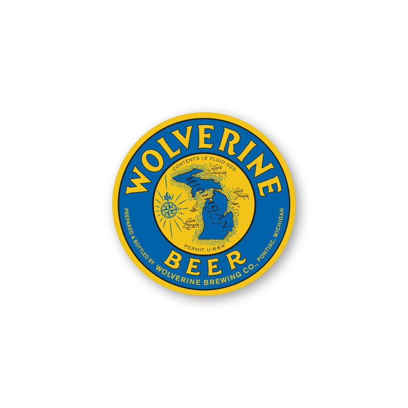 Wolverine Beer Sticker