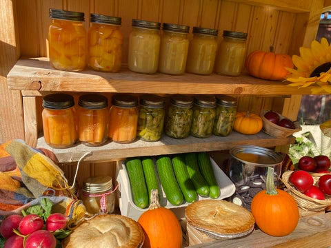 fruits and vegetables at farmstand