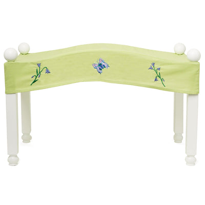 Green and purple Butterfly Bedding canopy for Maplelea doll Taryn - fits KM1 doll bed.