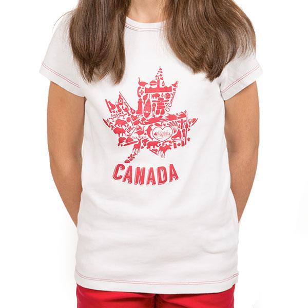 Canada Day Shirt for Girls