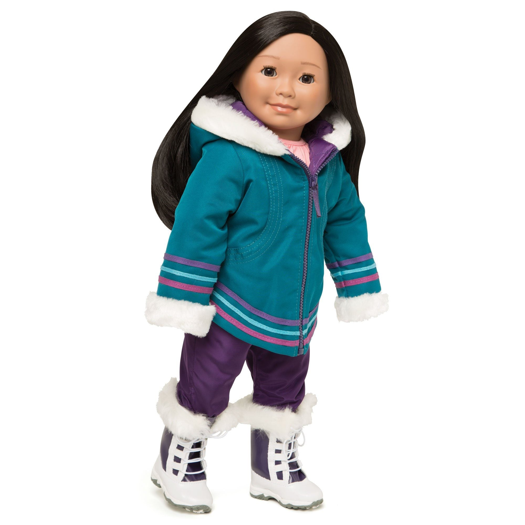 Aputi Parka of traditional Inuit design on 18 inch doll