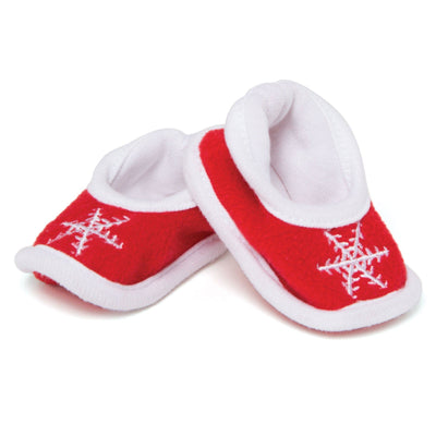 Christmas Traditions red snowflake elf slippers for all 18 inch dolls