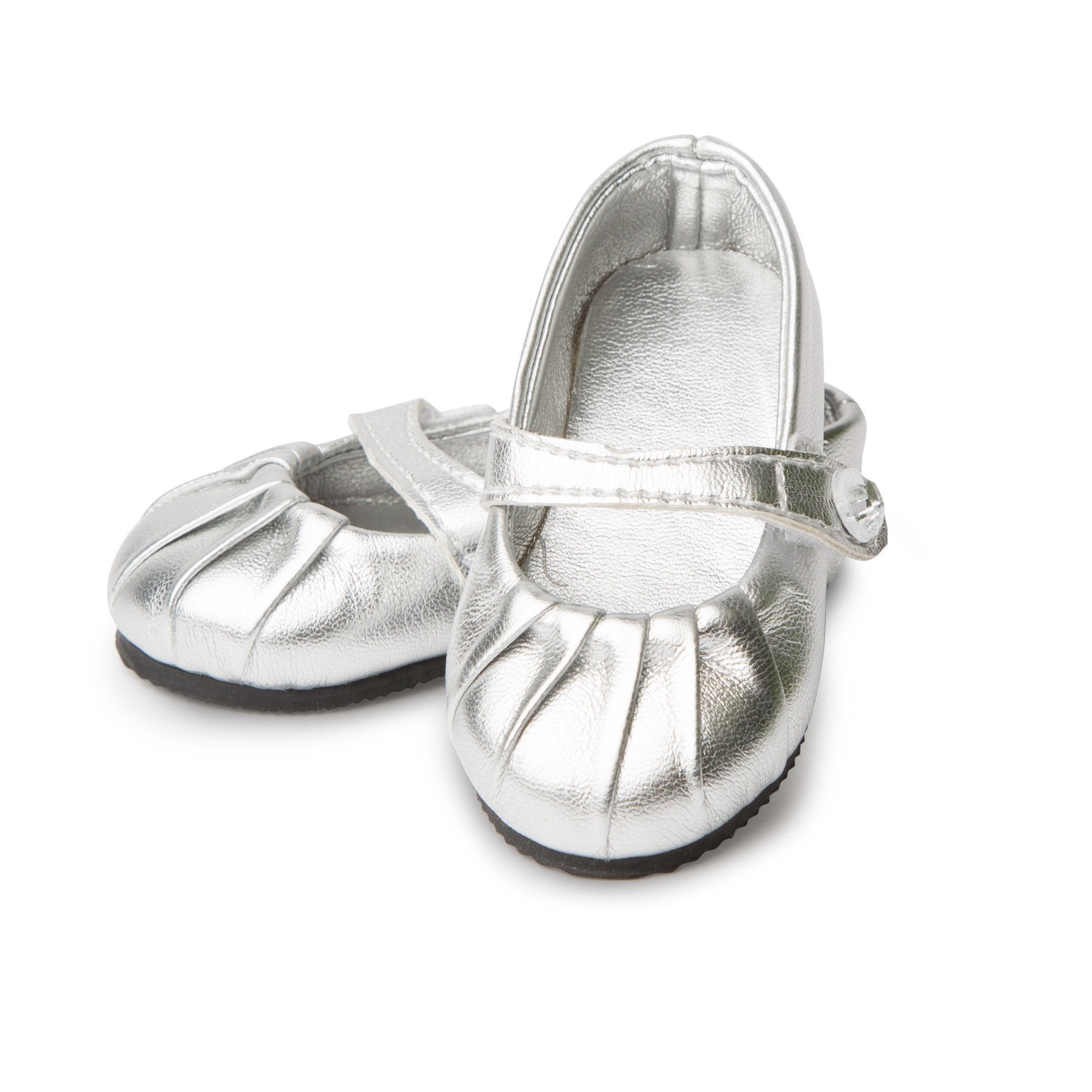 Silver Shine Shoes KM77 All Dolls Footwear
