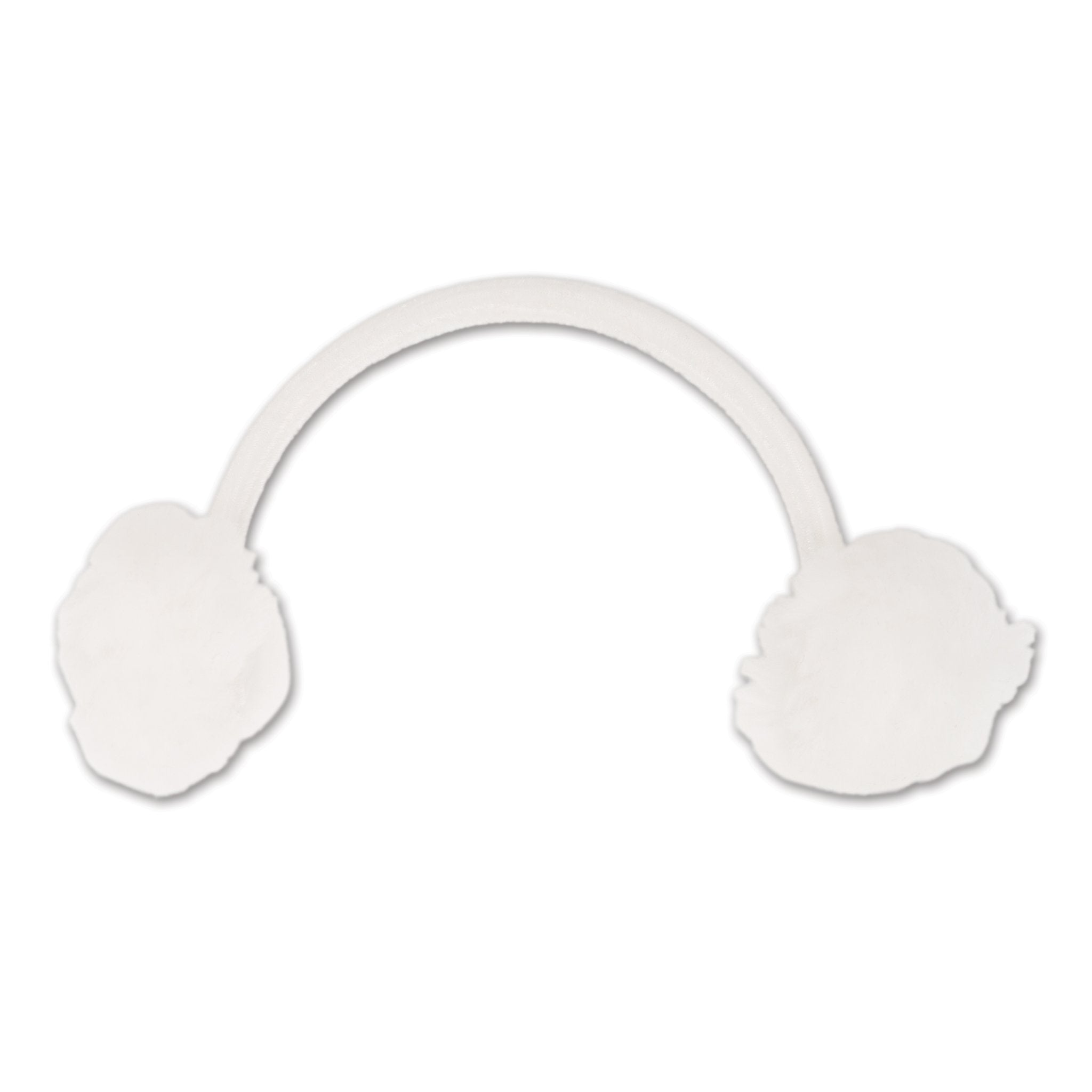 White fluffy earmuffs fit all 18 inch dolls