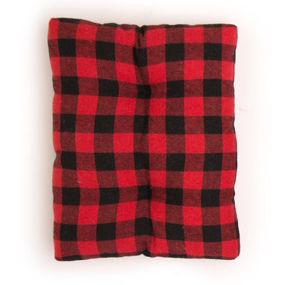Buffalo plaid dog accessory set for dolls dog bed.