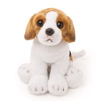 Breton the plush Beagle dog sitting. For all 18 inch dolls.