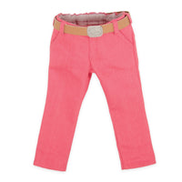 Brianne's starter outfit pink pants, tan belt with sparkly buckle fits all 18 inch dolls.