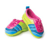 Brightly coloured running shoes fit all 18 inch dolls.