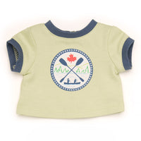 Camp Style ringer tee with logo fits all 18 inch dolls.