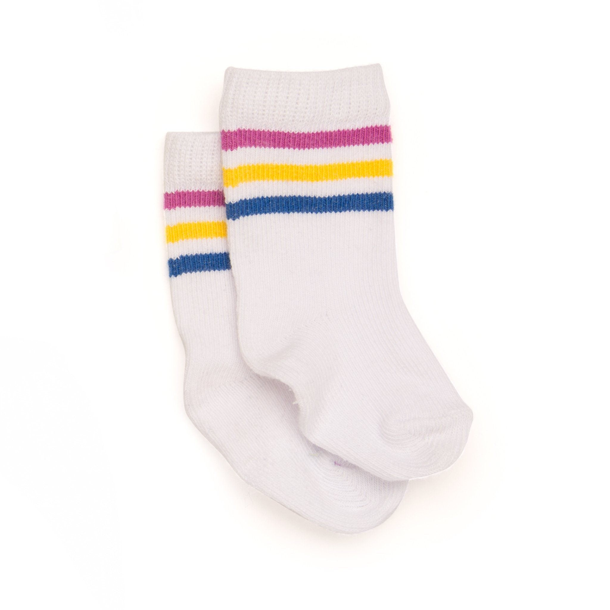 Camp Style striped socks fits all 18 inch dolls.
