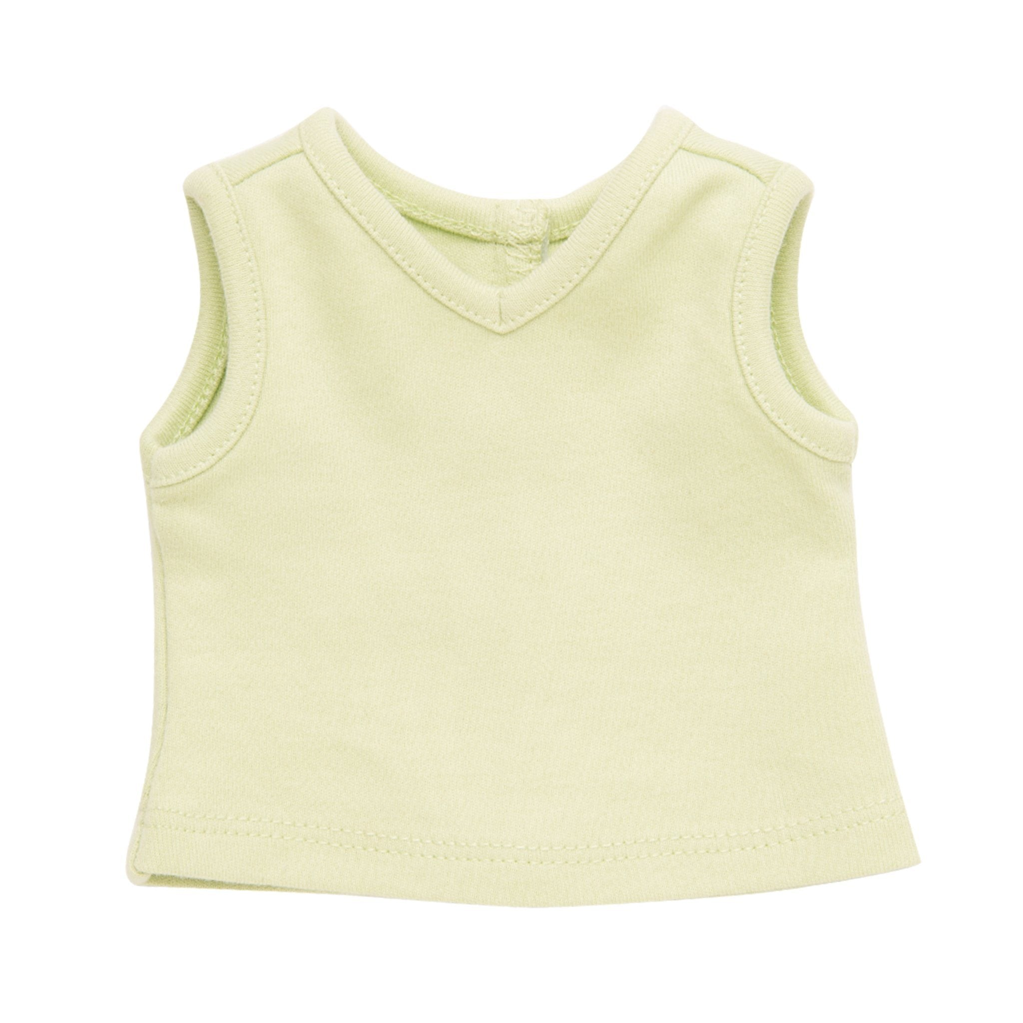 Campus Collection light green sleeveless tee s fits all 18 inch dolls.