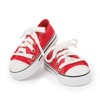 Campus Collection red sneakers fits all 18 inch dolls.