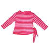 Cirque du Monde pink striped side-tie shirt fits all 18 inch dolls.