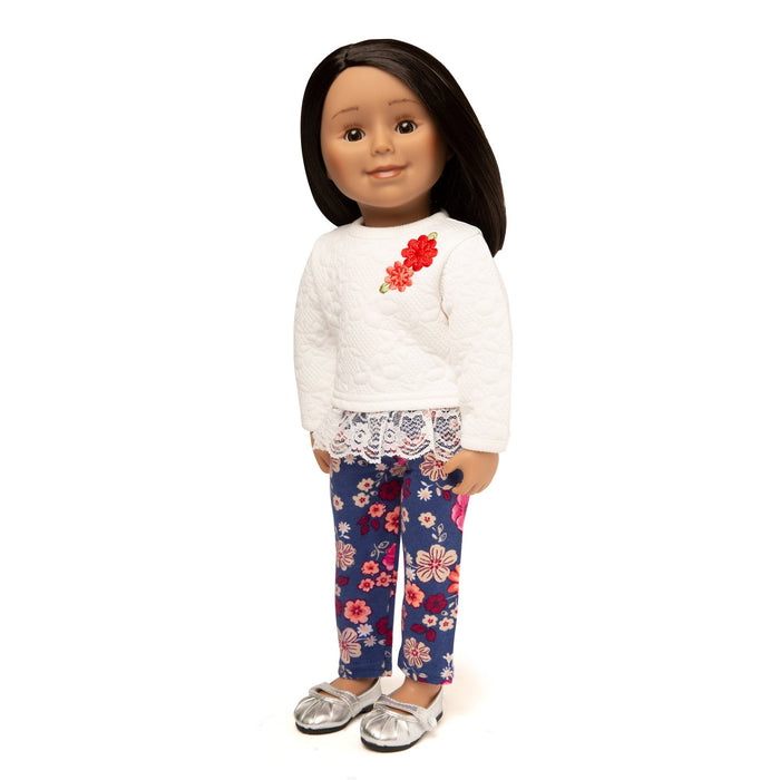 18 inch doll outfit matches girl's outfit