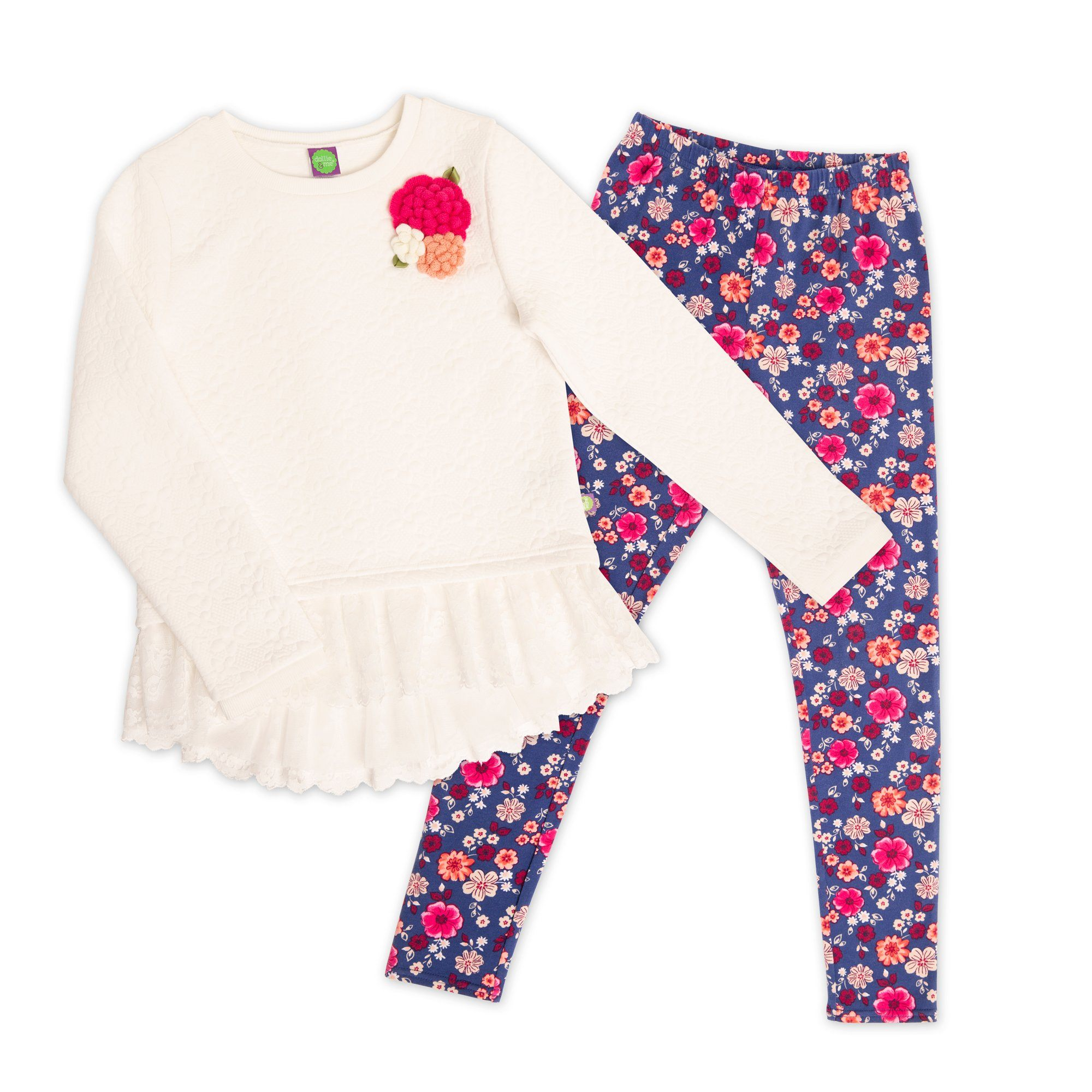 girls outfit matches 18 doll's outfit