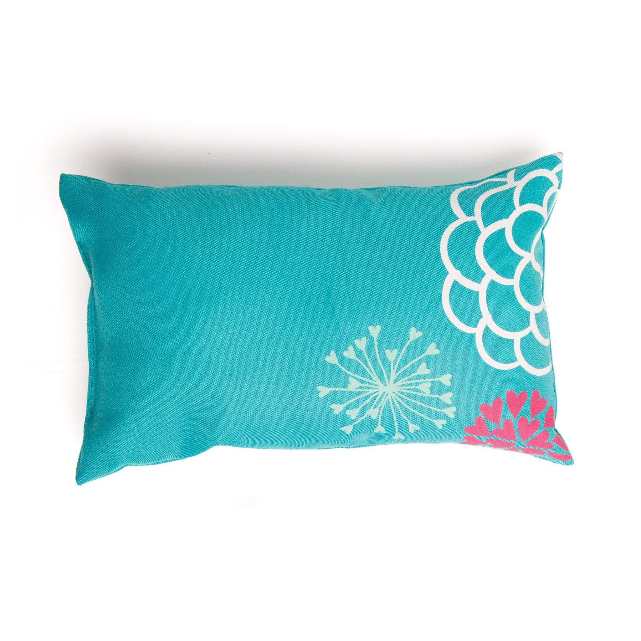 Field of flowers teal pillow with floral placement for all 18 inch dolls.
