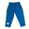 Flash Dash 6-piece running gear set with blue splash pants fit all 18 inch dolls.