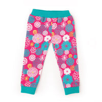 Floral pattern pajama bottoms for18 inch dolls.
