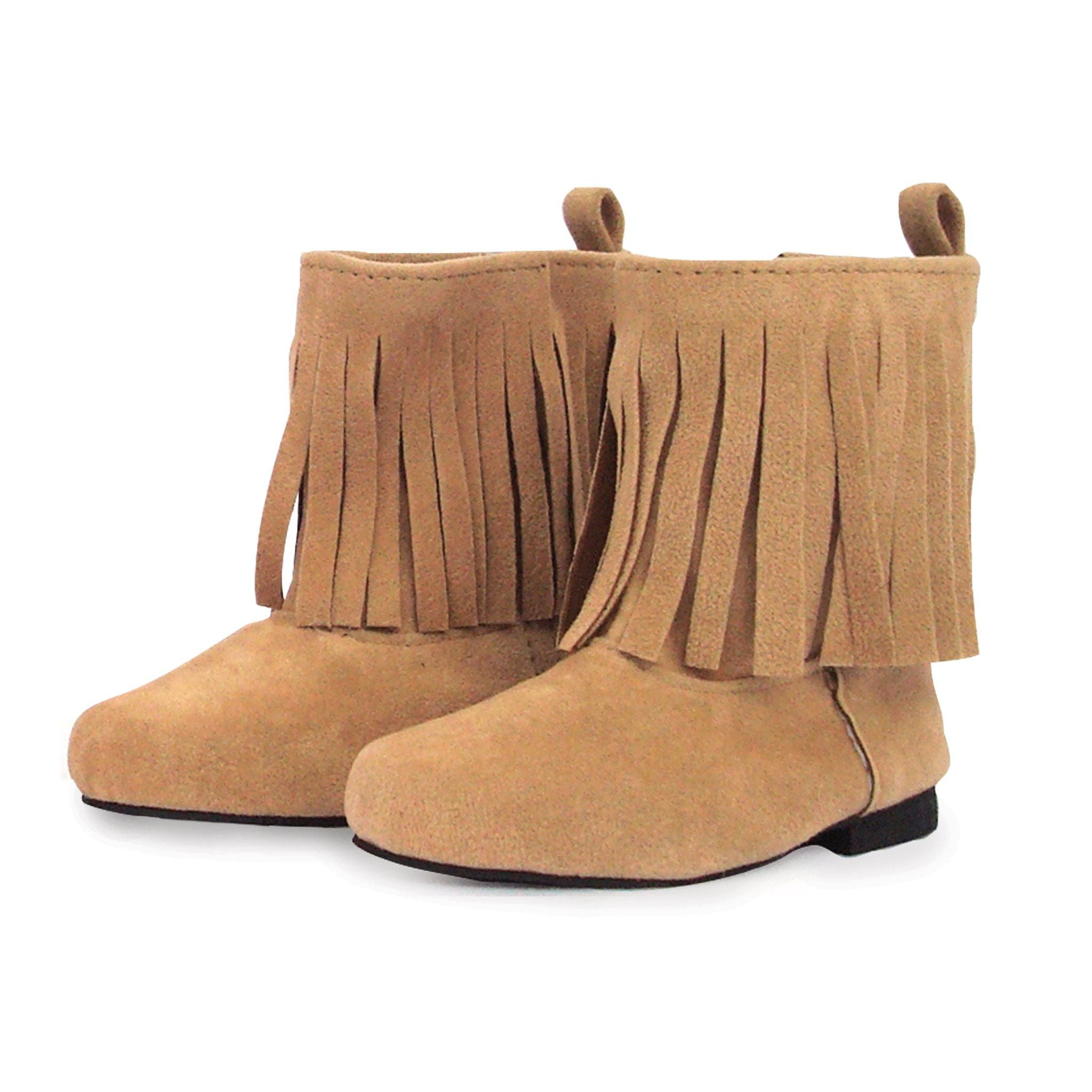 Western fringed boots fit all 18 inch dolls.