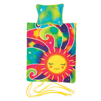 "Sunshine bedding is also a sleeping bag for 18"" dolls.  Shown will pillow."