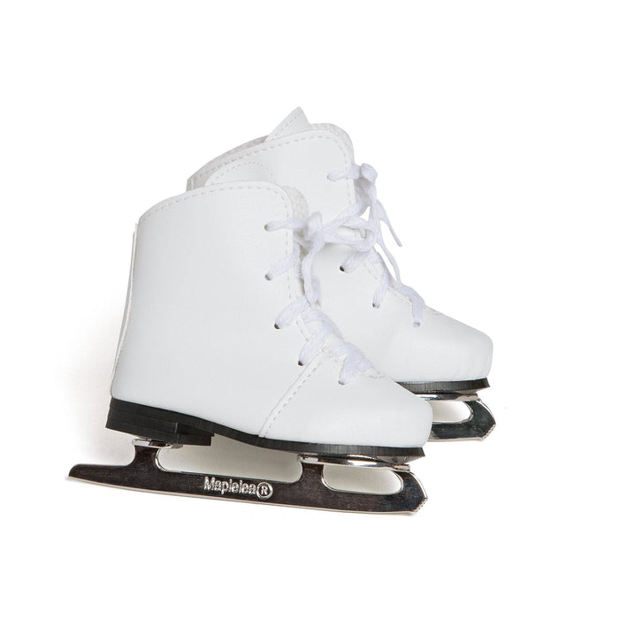 White figure skates fit all 18 inch dolls.   Amazing quality.