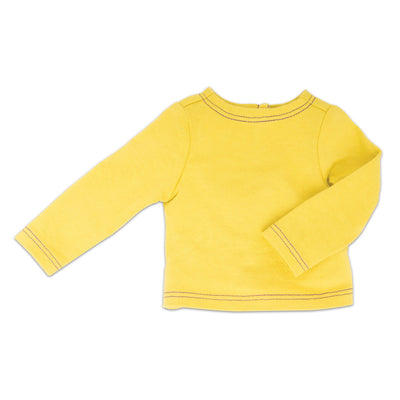 Gulf Island Stylin' teal yellow long sleeve tee fits all 18 inch dolls.