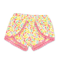 Holiday Hooray summer multi-coloured tulip-style patterned shorts fits all 18 inch dolls.