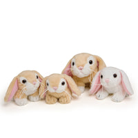 Hoppit and her bunnies is 1 mom lop-eared dwarf rabbit and her 3 baby bunnies. For all 18 inch dolls.