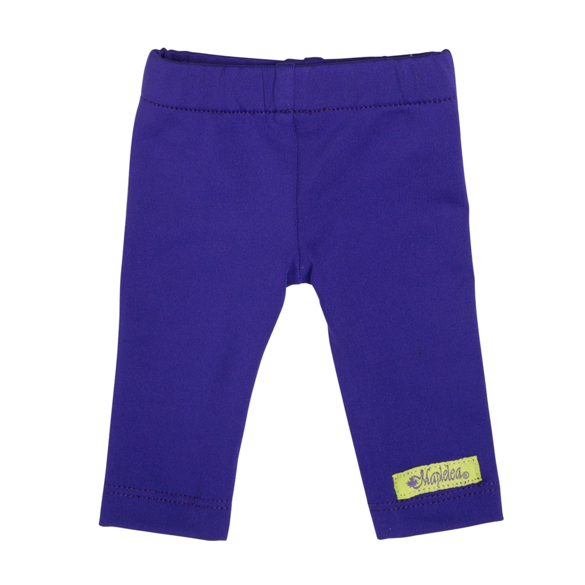 Purple capri pants fit all 18 inch dolls.