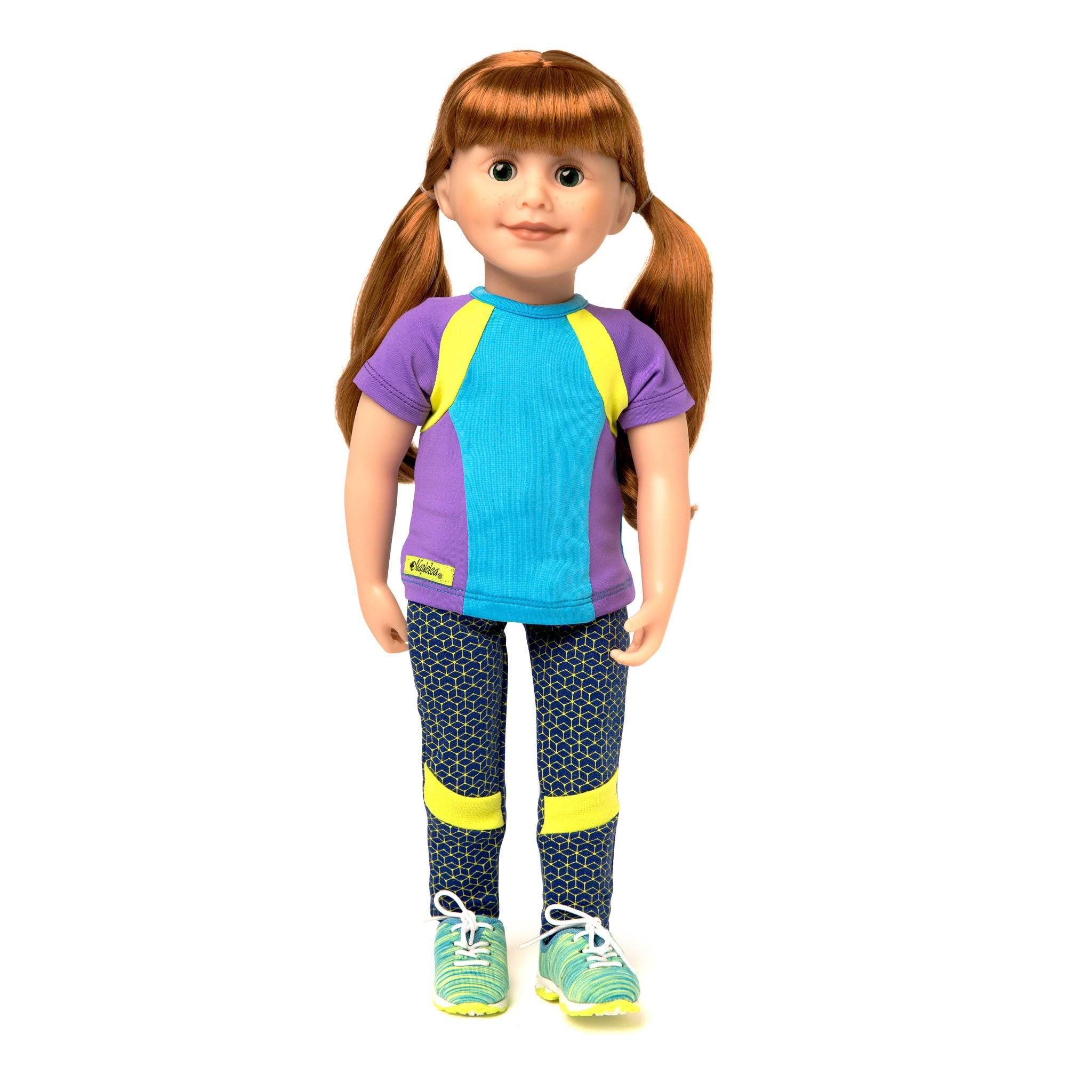 f747008dcffd Print leggings and color block t-shirt for 18 inch dolls