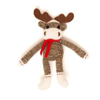 High quality adorable sock monkey moose! Maplelea.com