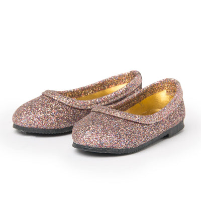"Sparkly shoes for 18"" dolls. Quality set made by Maplelea.com"