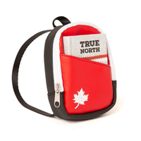High-quality Canadian backpack with an embroidered maple leaf and notebook with a printed cover!