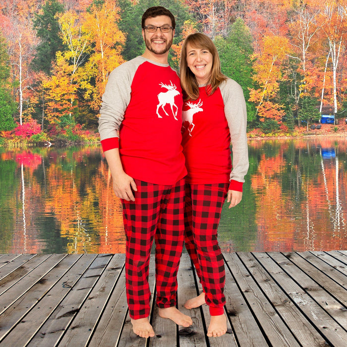 Canadian Moose family pajamas for adults, kids, doll and dog