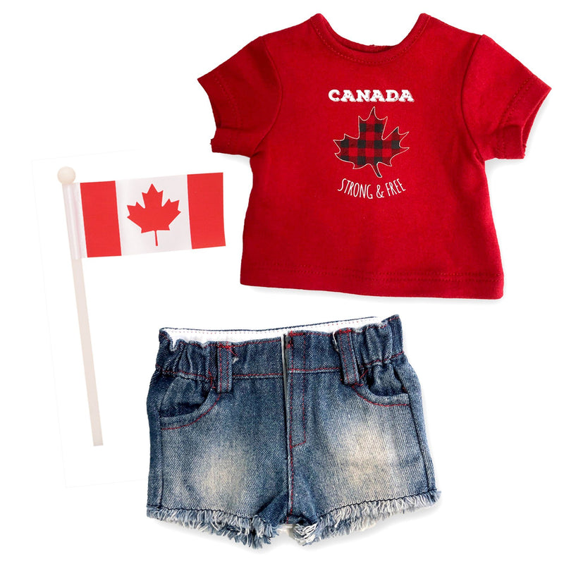 XKM232X - Oh Canada! Outfit for Dolls (no cowboy hat)