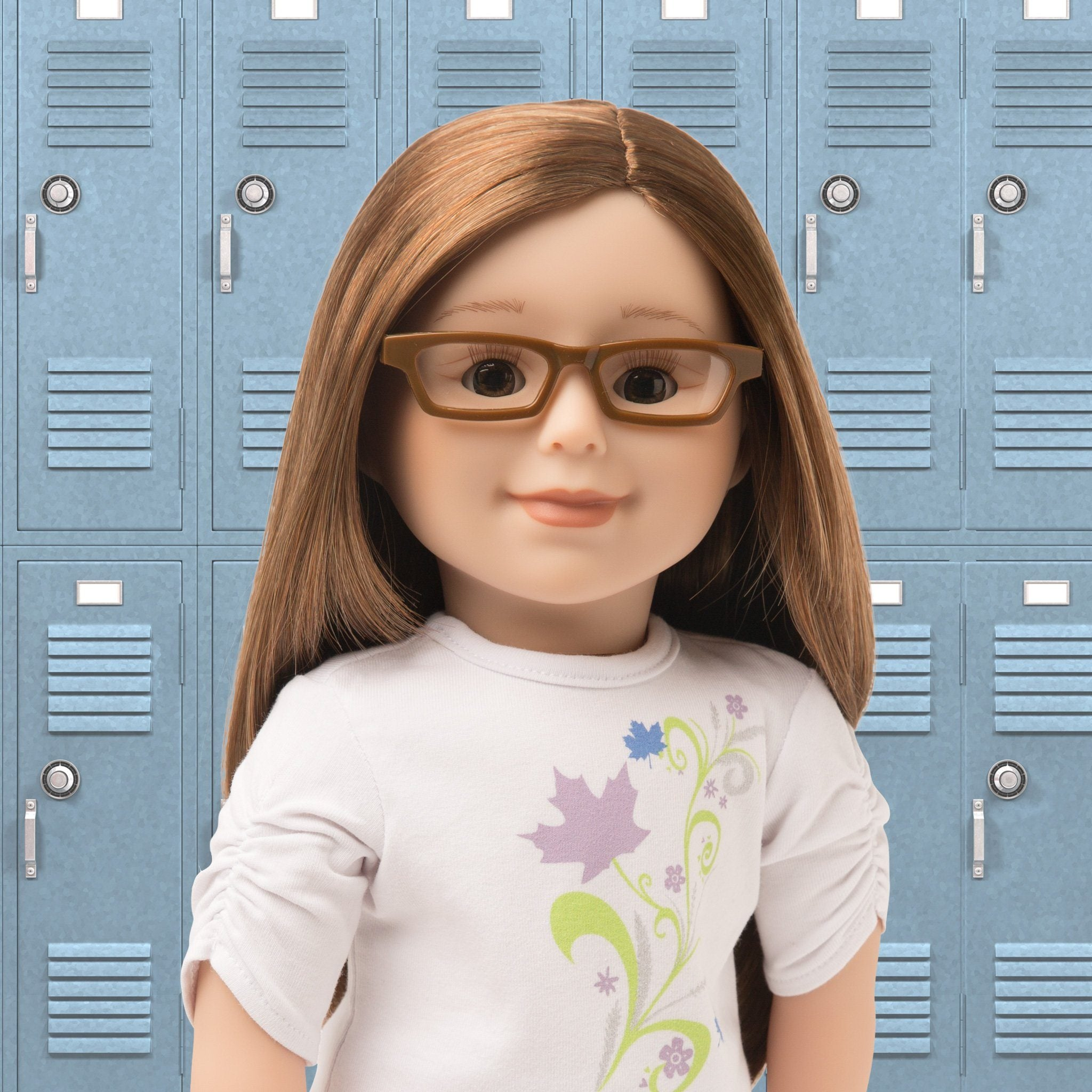 Brown glasses fit all 18 inch dolls.