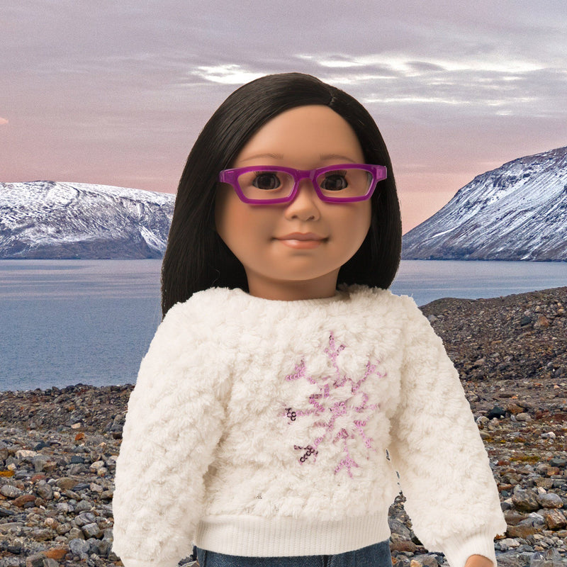 Purple glasses for 18 inch dolls